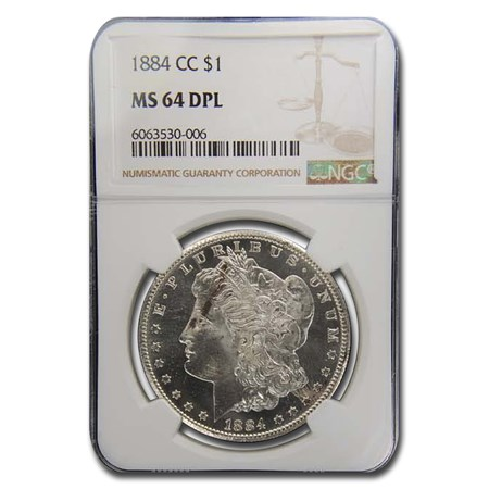 1884-CC Morgan Dollar MS-64 DPL NGC | Morgan Dollars (1878 - 1904 ...